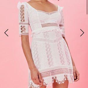 NWT For love and lemons amandine white dress